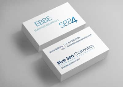 Blue Sea Business Cards